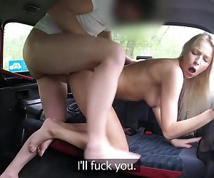 Thick Cock Stretches Shaven Pussy