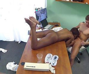 Ebony Babe Has Pussy Inspected