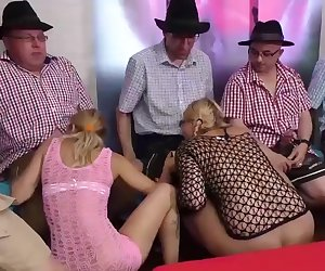 German bukkake gangbang party