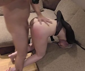 Anal Creampie for Submissive Blonde