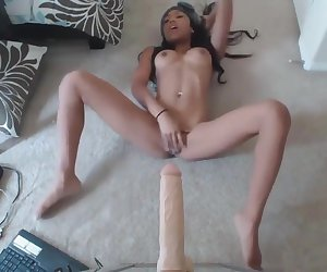 Hot Black Slut Sucking And