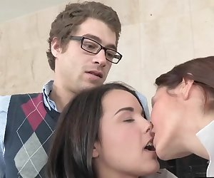 Horny teacher Ava Adams gives