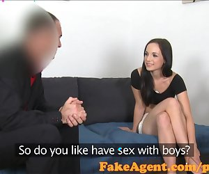 FakeAgent Beautiful skinny student needs