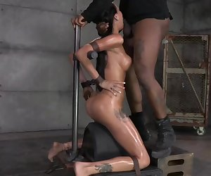 Raven Bay Throat Fucked On A Rolling Sybian