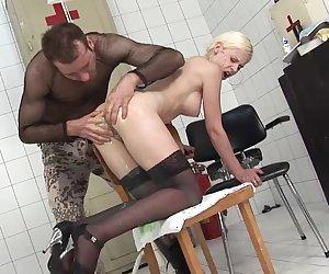 Liquid filled ass fucking