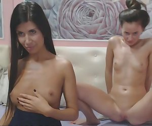 Two Hot Oiled Lesbians Finger And Licks Each Other