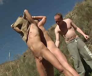 Greedy Sean Has 2 Slaves To Enjoy! - Casper Ellis, Justin Blaber and Sean Taylor