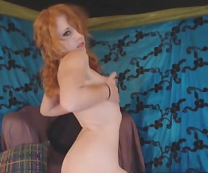 Hairy Ginger Teen Presents Her Blowjob Skills