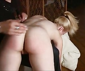 Mom is angry and gives her spanking