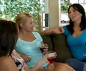 Young girl and busty older lesbian get together
