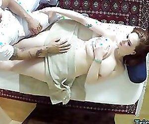 Massaged busty teen lured