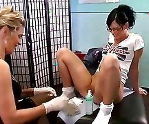 Nice bitch dildos her ass at piercing parlor