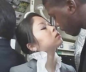 Young Officegirl groped by Black Stranger
