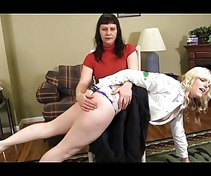 Blondie Spanked & made to Kneel on the Bench