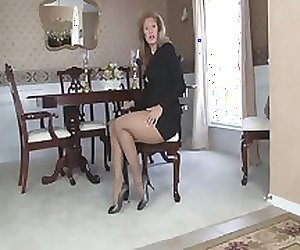 Question not in patterned pantyhose rochele charming