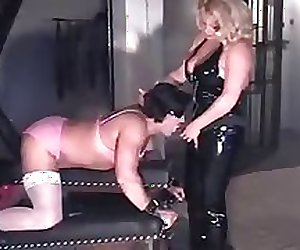 Blonde Mistress fucks slave 1 of 2