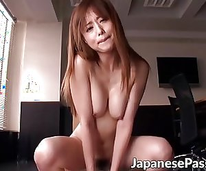 Hot Asian skank enjoys taking it from behind hard and fast