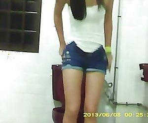 Asian pees on hidden cam