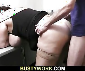 Busty chick gets slammed after interview