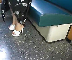 Platform Mules In A Suburban Train