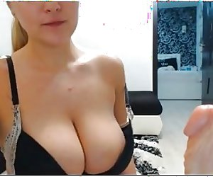 sorry no sound but lovely massive tits