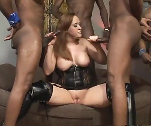 Incredible pornstar Julie Simone in horny swallow, interracial sex video