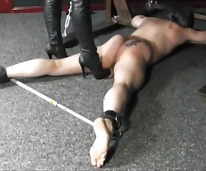 Mistress loves to cause pain with her boots