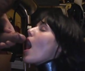 Naughty piss slut likes to drink straight from the fountain 8