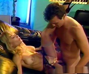 Incredible pornstar Nina Hartley in fabulous mature, blonde adult scene